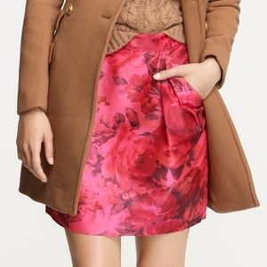 J. Crew Peony Floral Pink Mini Skirt